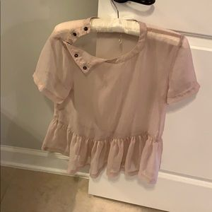 urban outfitter sheer top